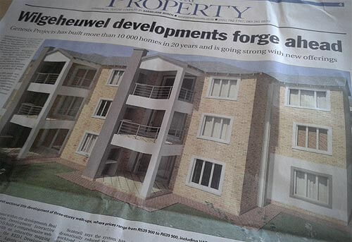 Genesis Projects featured in the Weekend Argus