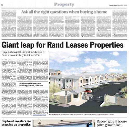 Tinderwood Village launched by Rand Leases - REDi